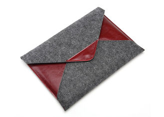 Leather Felt Laptop Sleeve Environmetal Friendly Material For iPad Pro