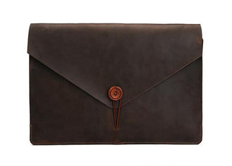 Closure Button Type Leather Tablet Sleeve , Laptop Protective Sleeve Easy To Carry