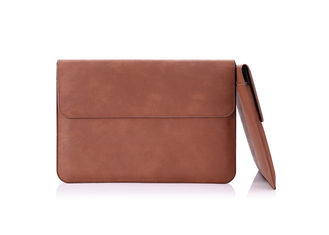 Brown Genuine Leather Laptop Sleeve HS Code 4205009090 User Friendly