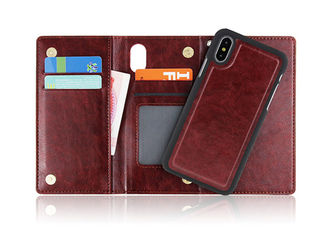 Anti Drop Folio Phone Case Premium Quality Materials With Magnetic Flip Closure