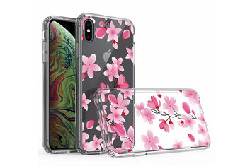 Vivid Flower Pattern IMD Phone Case Transparent PC Snap Case For iPhone