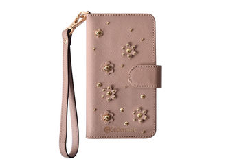 Fashion Pattern Folio Phone Case With Rubber Coating PC Shell High Durability