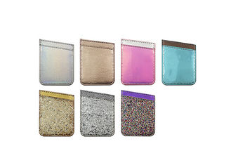 Bling Glitter Phone Case Accessories PU Leather Sticky Phone Case Wallet