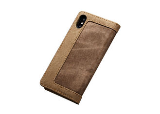 Card Pocket Type Leather Folio Case , Leather Smartphone Case Shockproof