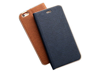 Black Fashionable Folio Phone Case Slim Hybrid Leather Case With Card Slots